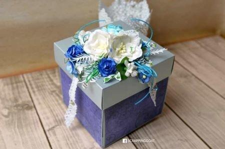 Exploding Box srebrny perłowy - GoatBox
