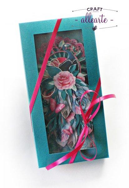 Pudełko na kartkę DL turkus perłowy - GoatBox