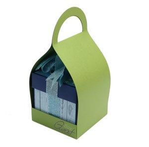 Trzymak nosidełko na exploding box - zielony perłowy